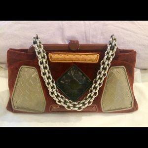 Bottega Veneta Limited Edition Velvet Leather Bag